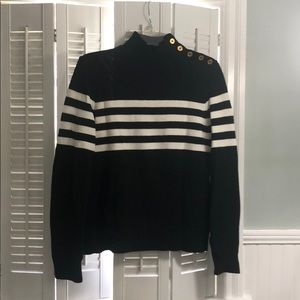 Chaps Black and White sweater